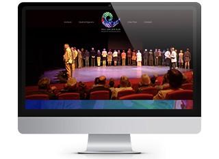 Een website voor een theatraal trainer in persoonlijke ontwikkeling